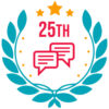 badge for a 25th comment on a forum