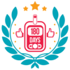Badge for measuring blood glucose 180 times