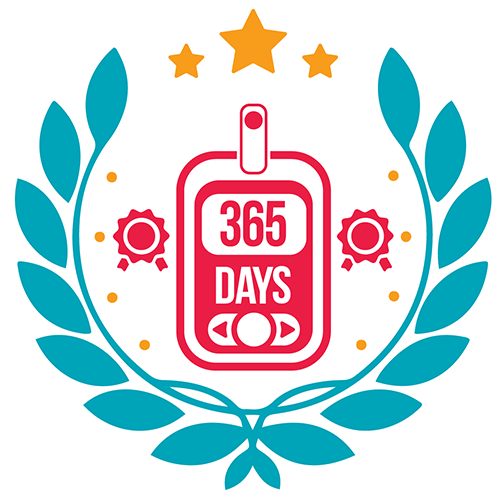 Badge for measuring blood glucose 365 times